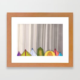 Stripes and Colorful Camping Tents 98 Framed Art Print