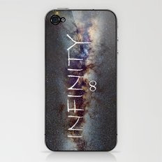 INFINITY STARS IN THE MILKY WAY ∞ iPhone & iPod Skin