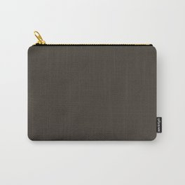 Black Sand Dark Solid Color Block Carry-All Pouch