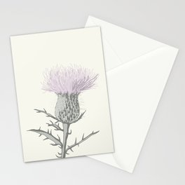 PASTEL THISTLE FLOWER Stationery Cards