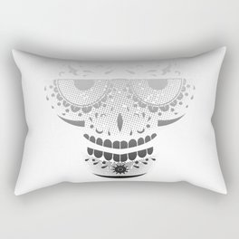 Sugar Skull - Day of the dead bw Rectangular Pillow