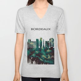 Bordeaux Skyline Unisex V-Neck