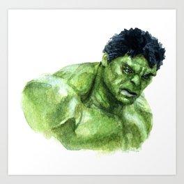 Hulk Portrait Art Print