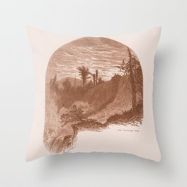 Lower Falls, Vintage Ticonderoga Throw Pillow