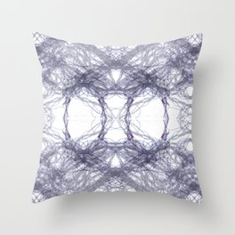 Threads Purple. Throw Pillow