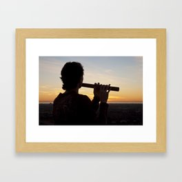 Sunset Tunes Framed Art Print