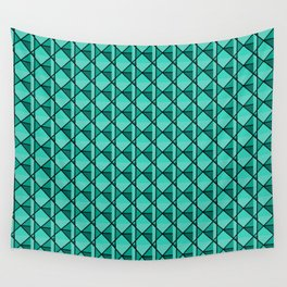 Green Geo Wall Tapestry