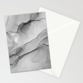 Monochrome Translucent Mable Pattern Stationery Cards