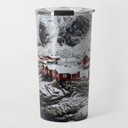 Mountain Village In Norway Travel Mug