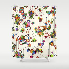 Connected Clusters Shower Curtain