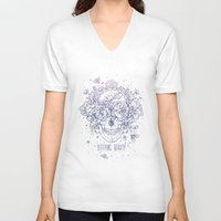 sleeping beauty V-neck T-shirts featuring Sleeping Beauty by DiMary