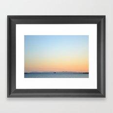 Enter Catalina Framed Art Print