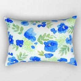 Floret (Blue) Rectangular Pillow
