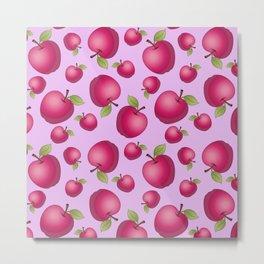 Red Apple Patterns Metal Print