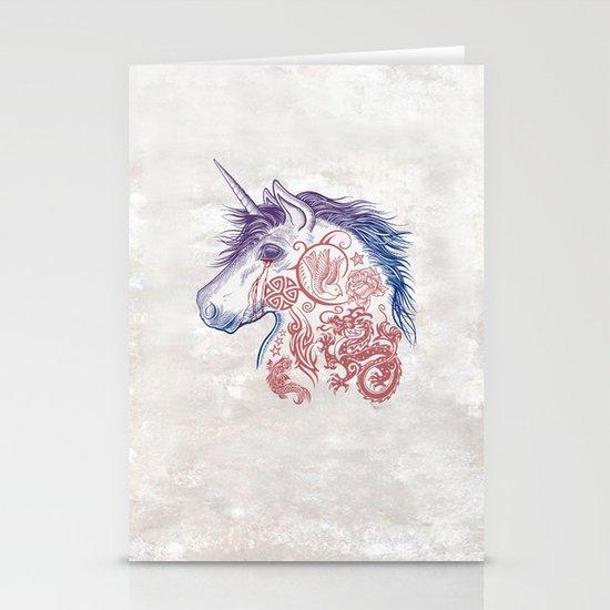 War Unicorn Stationery Cards