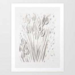 Water reeds Art Print