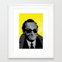 jack nicholson Framed Art Prints featuring Jack Nicholson by Feezy Design Studio