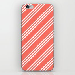 Living Coral Large Small/Small Stripes iPhone Skin