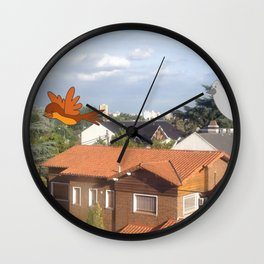 Flying with friends. Wall Clock