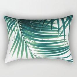 Palm Leaves Green Vibes #4 #tropical #decor #art #society6 Rectangular Pillow