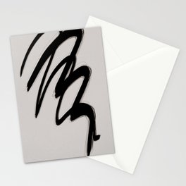 Strokes 2   Minimal Black & Neutral Abstract Stationery Cards