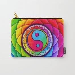 Healing Lotus Rainbow Yin Yang Mandala Carry-All Pouch