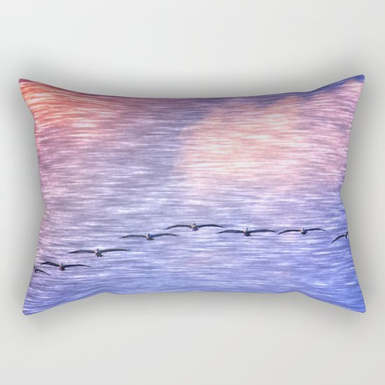 Flight Formation Rectangular Pillow