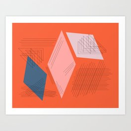 Mid Century Mod in Orange Art Print