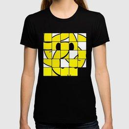 Acid Smiley Shuffle Puzzle T-shirt