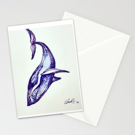 Whale Illustration Stationery Cards