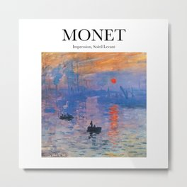 Monet - Impression, Soleil Levant Metal Print