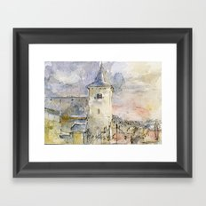 Dutch landscape Framed Art Print
