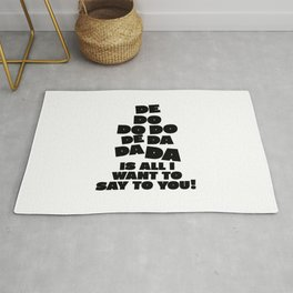 Police, music quote Rug