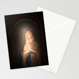 Mother of Immaculate Conception, St. Catejan's Church, Anjuna, Goa, India Stationery Cards