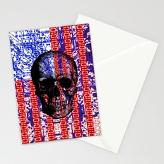 US Skull in a digital circuit. Stationery Cards