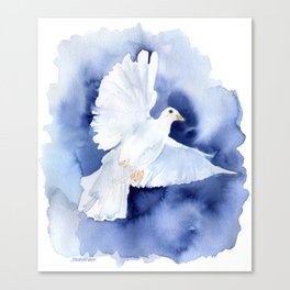 Dove Watercolor Canvas Print