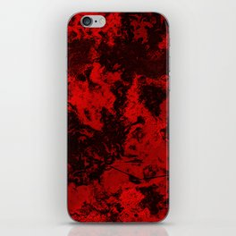Marble-Red iPhone Skin
