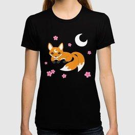 Japanese Fox Pattern T-shirt