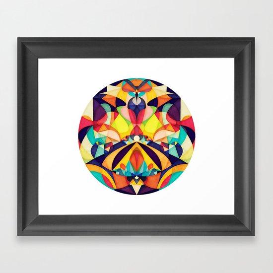 Poetry Geometry Framed Art Print