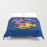 simpsons Duvet Covers featuring Sons Of Donuts / Simpsons / Donuts by Adrien ADN Noterdaem