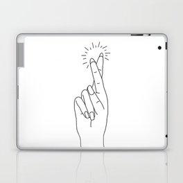 Fingers Crossed Laptop & iPad Skin