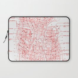 Chambers in Red Laptop Sleeve