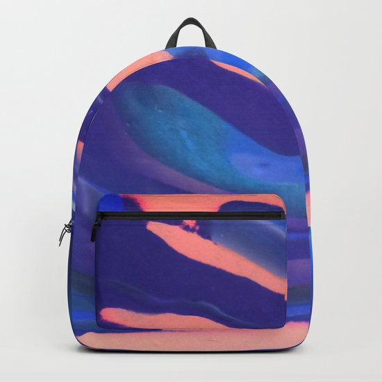 Peachy Blue Marbling Pantone Backpack