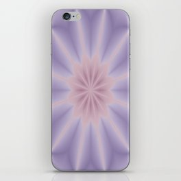 Pink and Lilac 3D Flower Three iPhone Skin