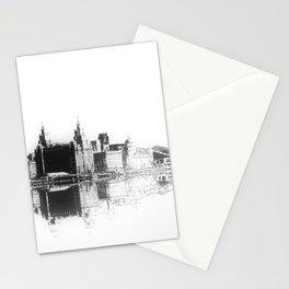 Liverpool Waterfront Skyline (Digital Art) Stationery Cards