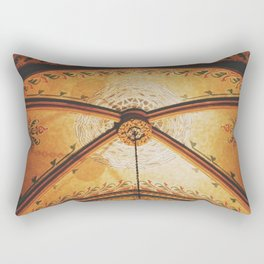 Gold On The Ceiling Rectangular Pillow