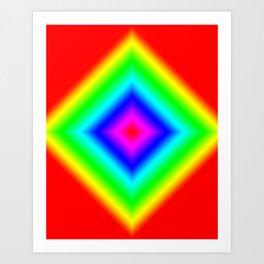 Diamond Prism Pulse Art Print