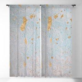 Blue & Gold Leaf Blackout Curtain