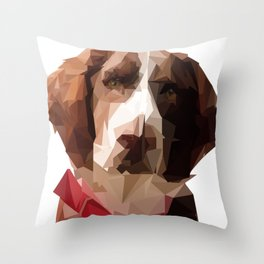 Low Poly Springer Throw Pillow