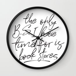BS and Book Stores Wall Clock